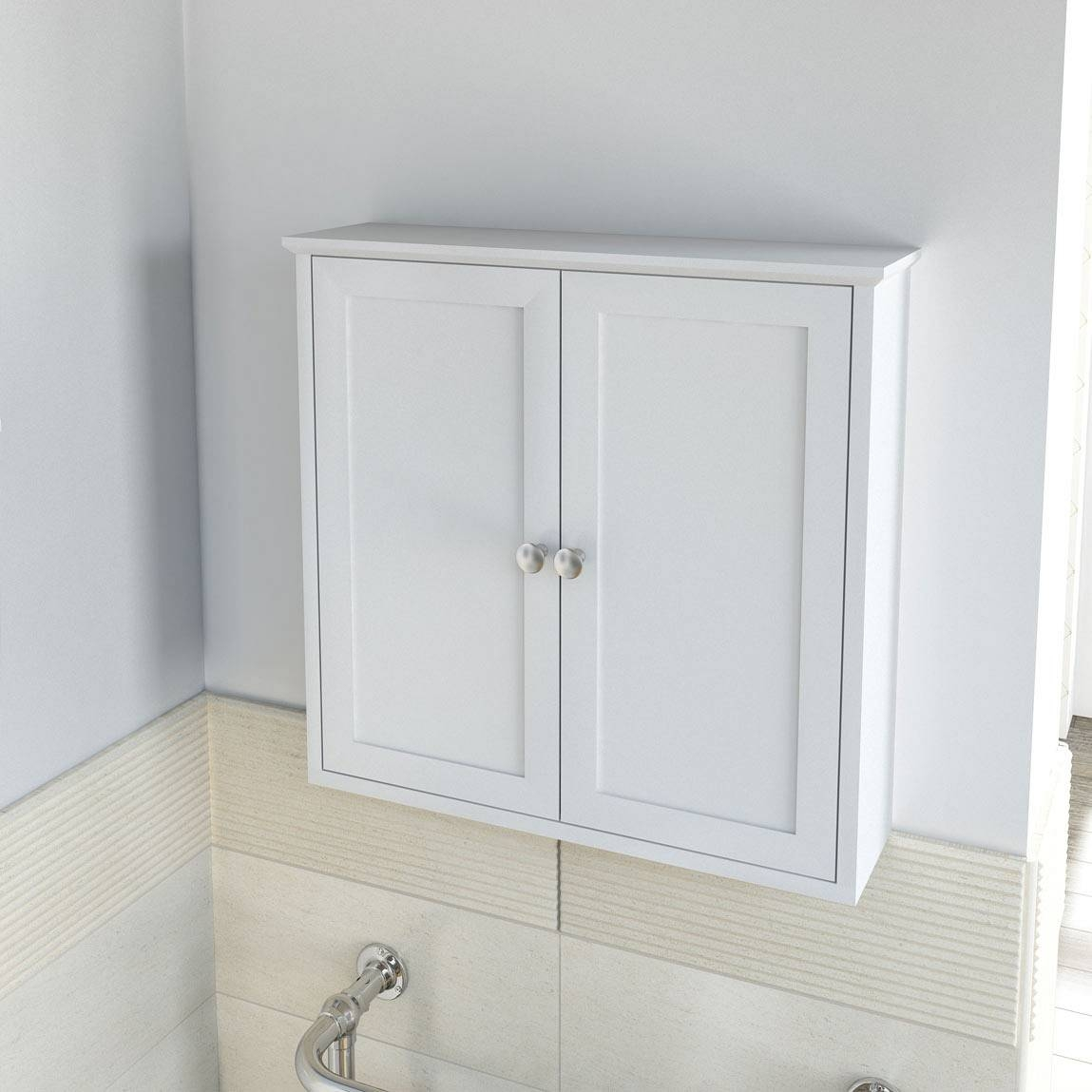Wall Mounted Bathroom Cabinet White