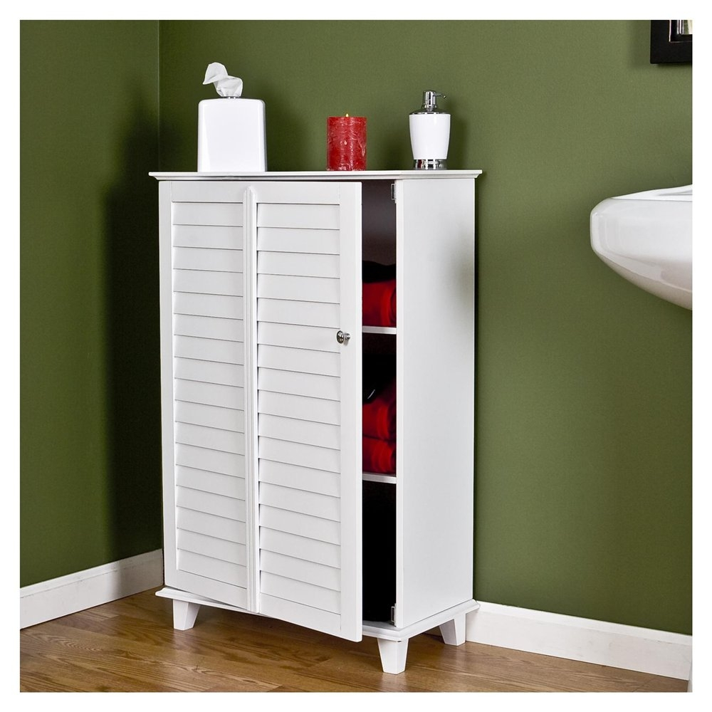 White Bathroom Cabinet For Towels