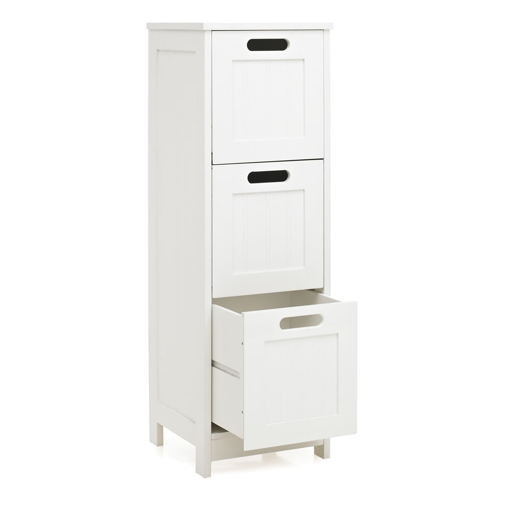 White Bathroom Floor Cabinet With Drawer