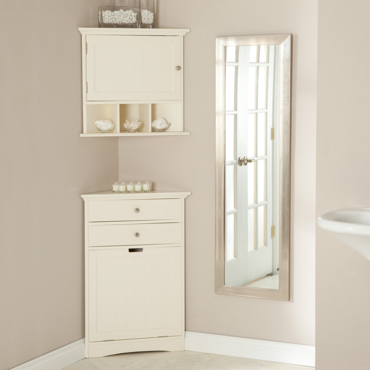 Permalink to White Corner Wall Cabinet Bathroom
