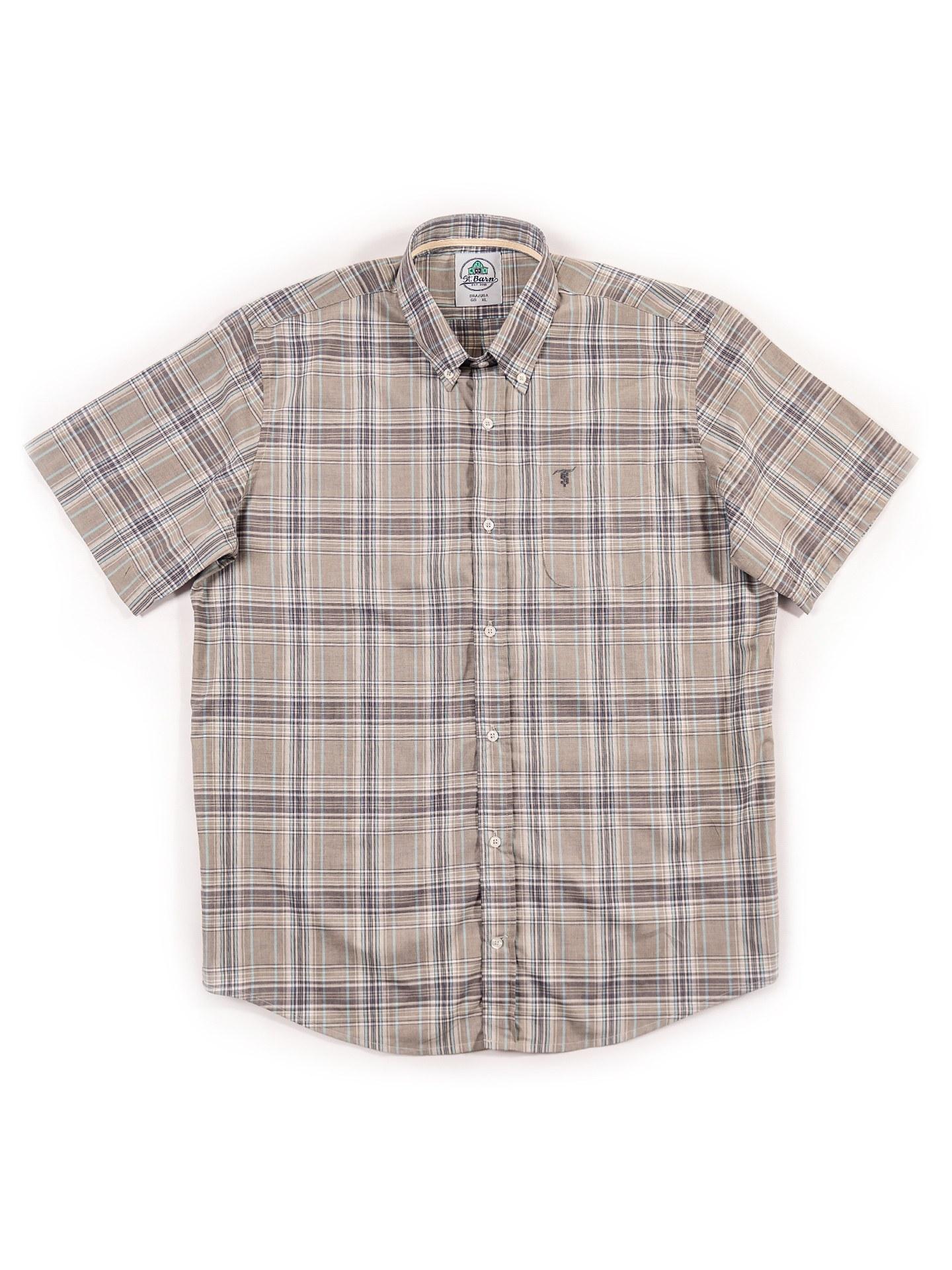 Camisa Xadrez Masculina St. Barn Manga Curta