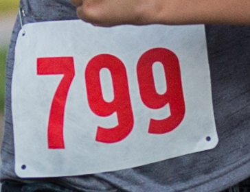 Bib with large clear font