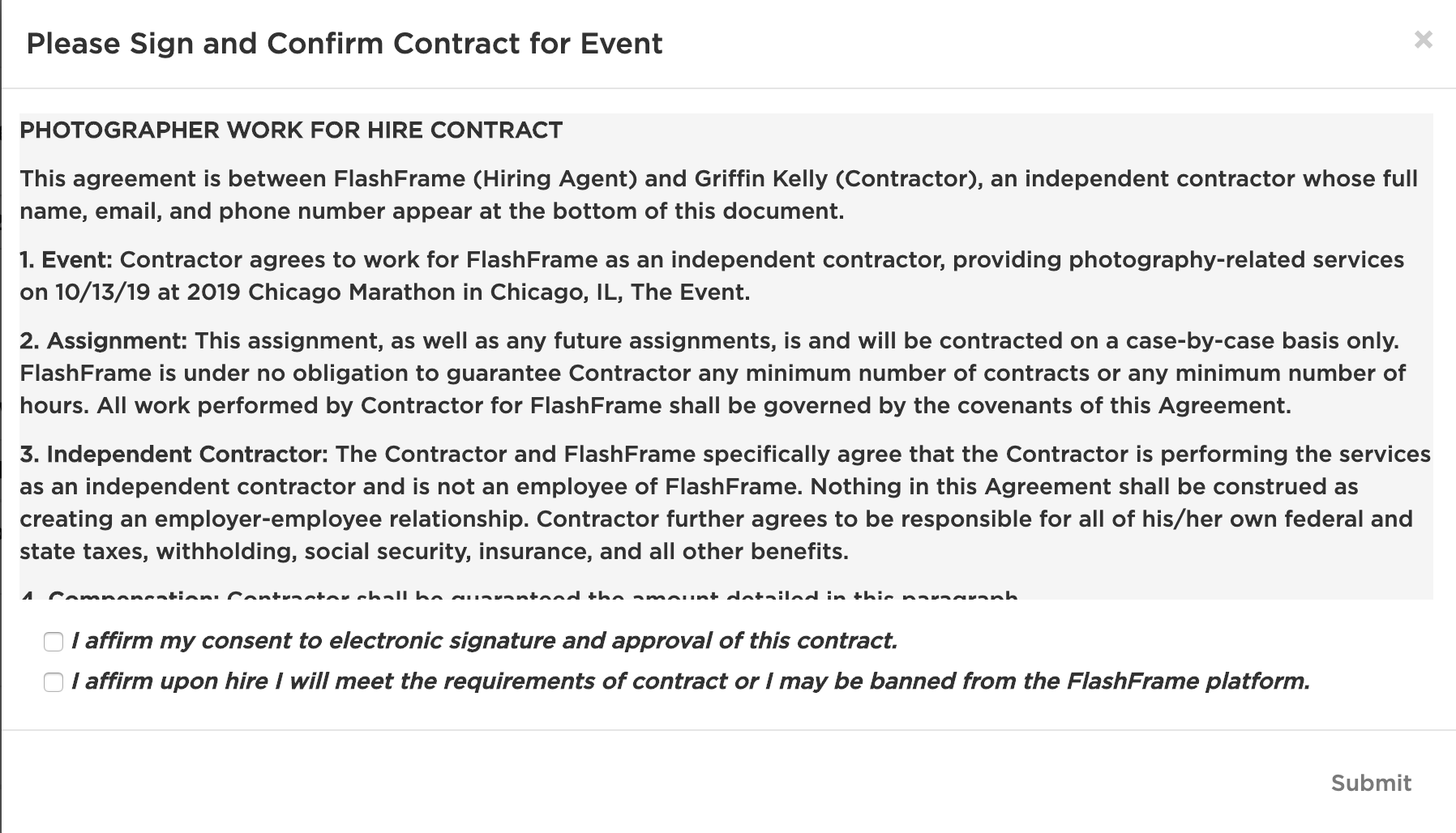 Contract Approval