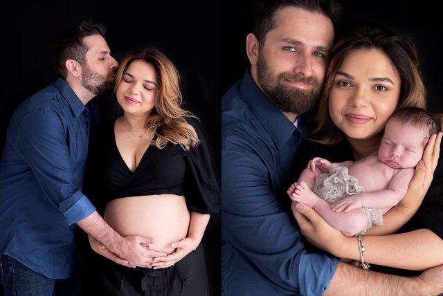 fotos antes e depois do ensaio gestante e bebê fotografia de família em são paulo