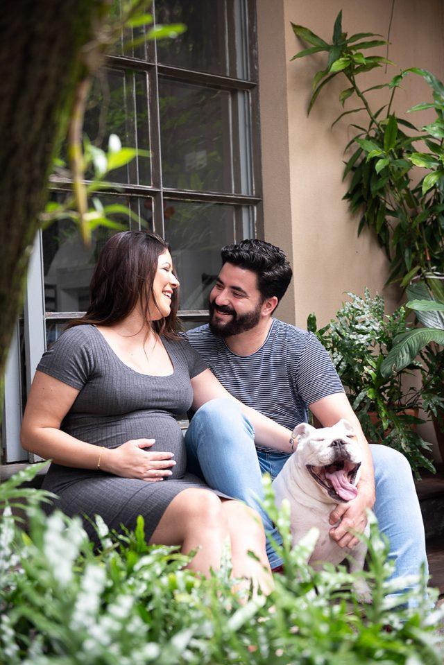 jardim parte externa de estúdio de fotografia de família bebês newborn