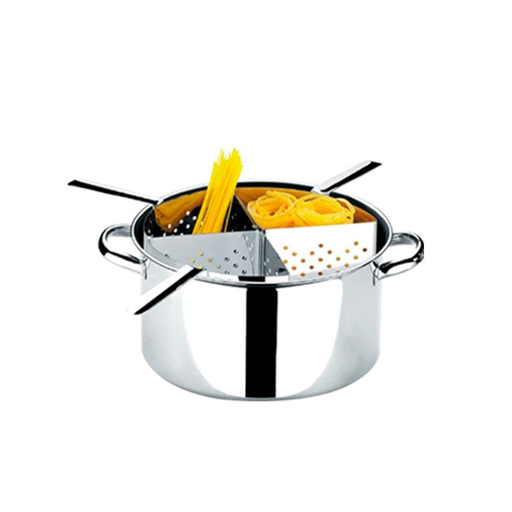 Espagueteira de Inox 4 Divisões 10 Litros 31x16 cm Brinox 1075200