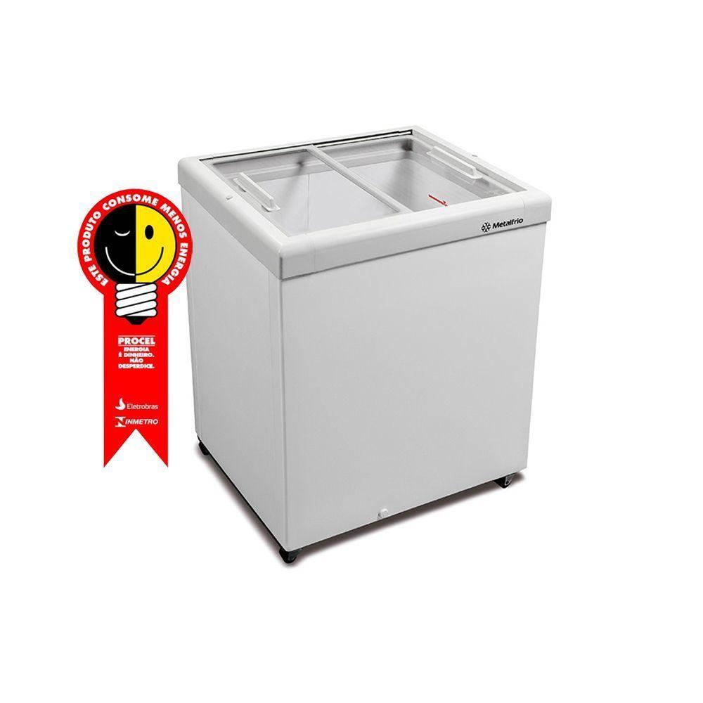 Freezer Horizontal Metalfrio 189 Litros Tampa de Vidro 220V - HF20S