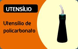Utensílios de policarbonato