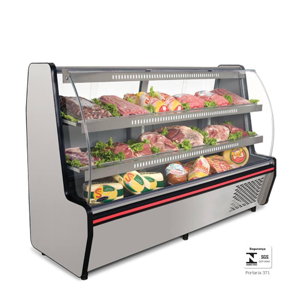 Balcão Refrigerado para Açougue de 2 Metros VIS200 - Conservex