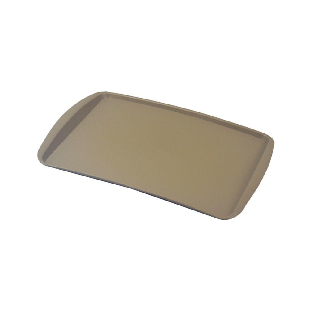Bandeja Plástica Bege para Cafeteria e Doceria 34x23 cm S200 Kit 10 pçs