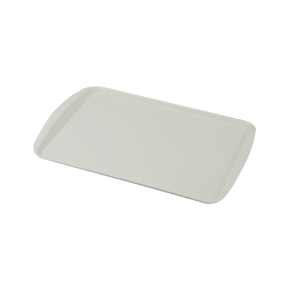 Bandeja Plástica Branca para Cafeteria e Doceria 34x23 cm S200 Kit 50 pçs
