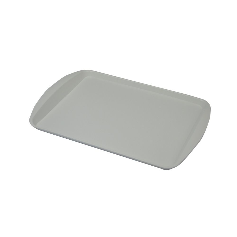 Bandeja Plástica Branca para Fast Food 43x30 cm S300 Kit 50 pçs
