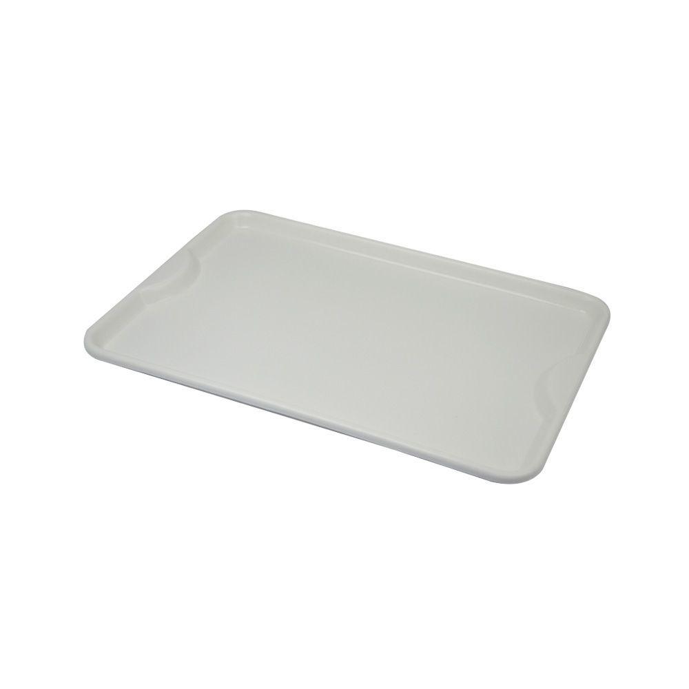 Bandeja Plástica Branca para Self-Service 48x33 cm S400 Kit 50 pçs