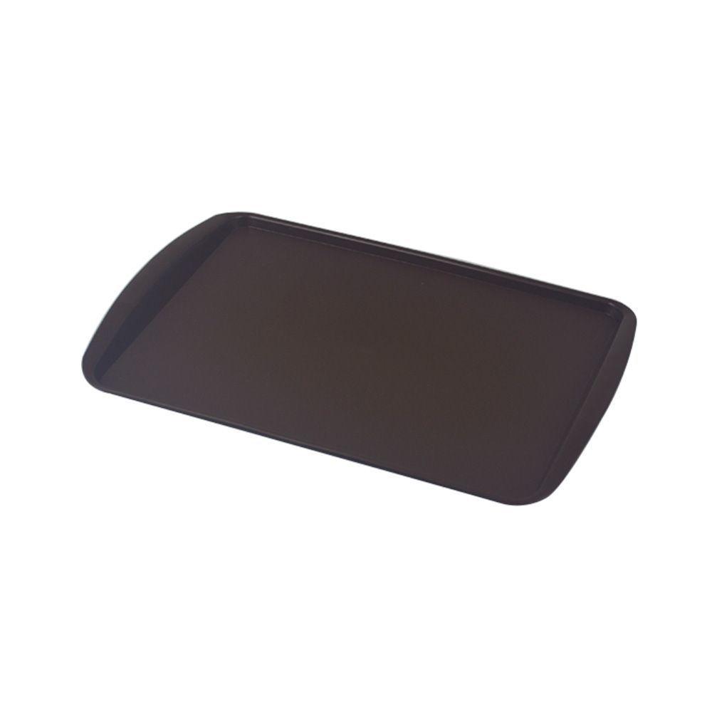 Bandeja Plástica Marrom para Cafeteria e Doceria 34x23 cm S200 Kit 10 pçs