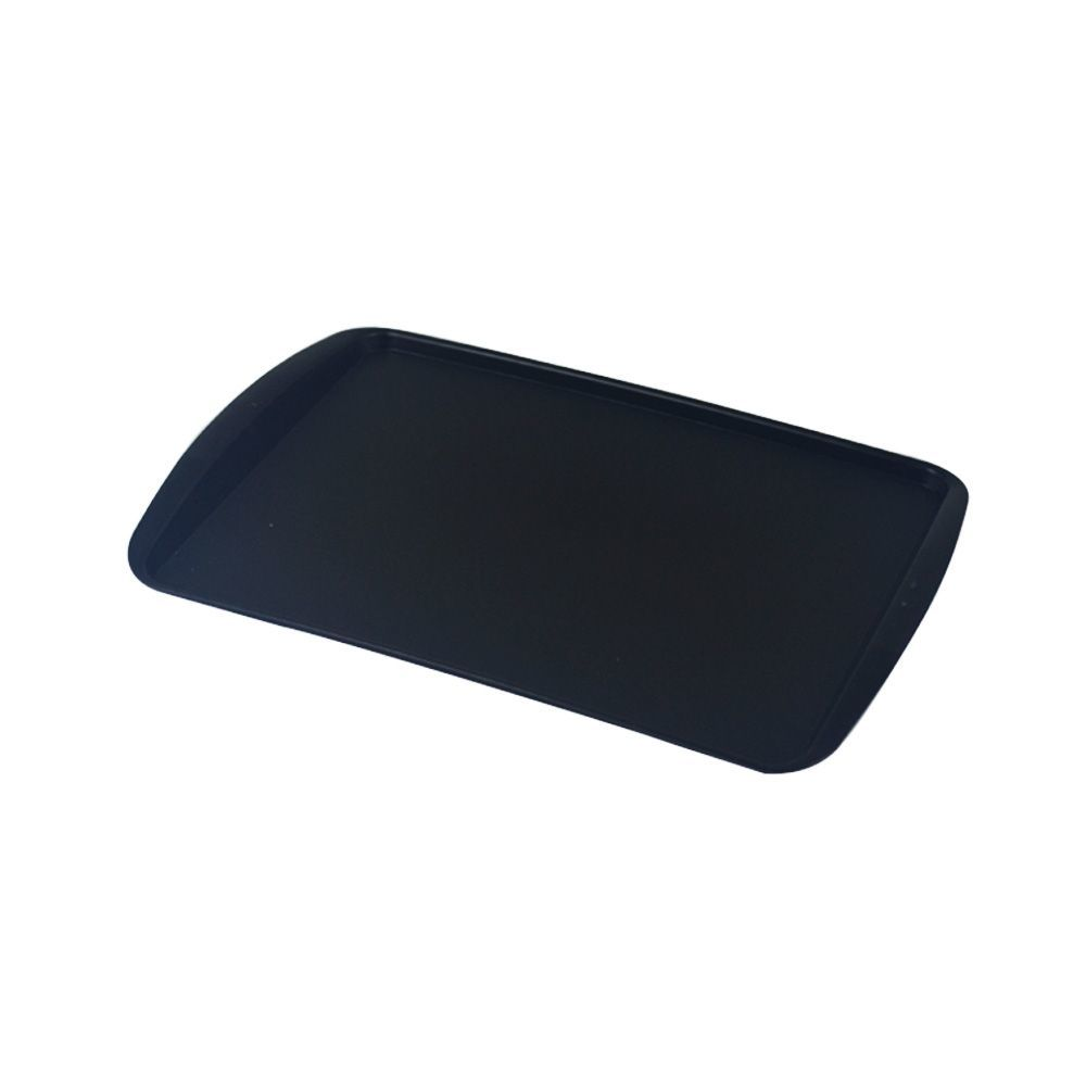 Bandeja Plástica Preta para Cafeteria e Doceria 34x23 cm S200 Kit 10 pçs