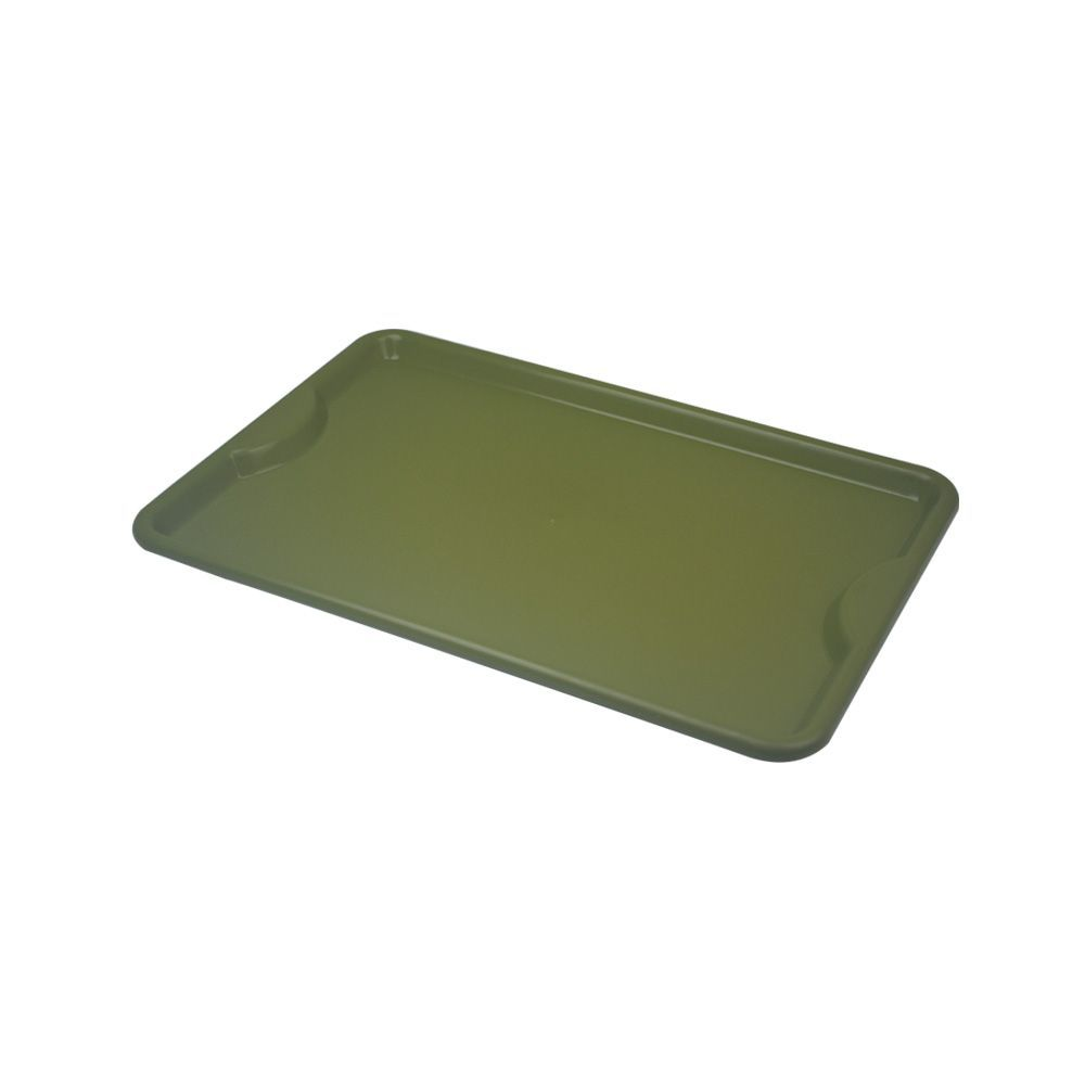 Bandeja Plástica Verde para Self-Service 48x33 cm S400 Kit 50 pçs