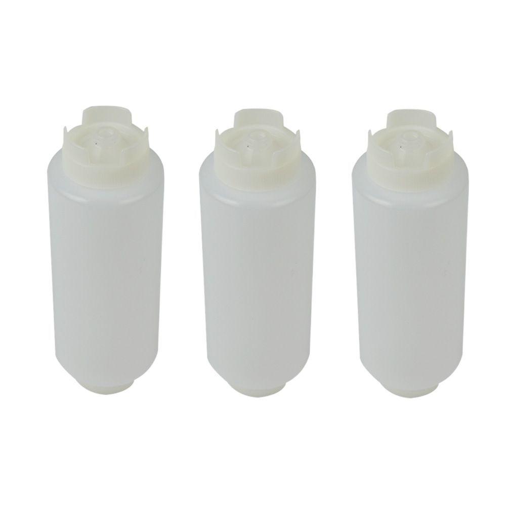 Bisnaga Invertida 720 ml Fifo com Fechamento Automático Kit 3 pçs