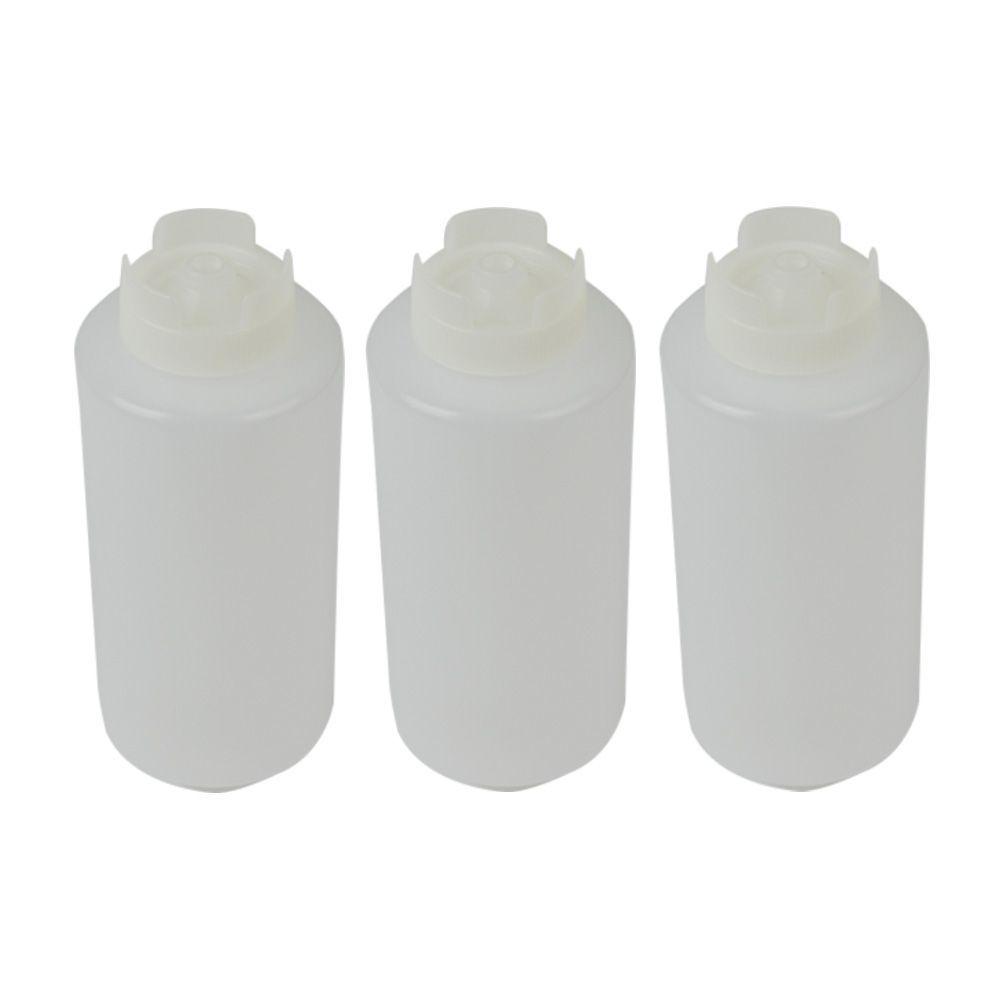 Bisnaga Invertida 960 ml Fifo com Fechamento Automático Kit 3 pçs