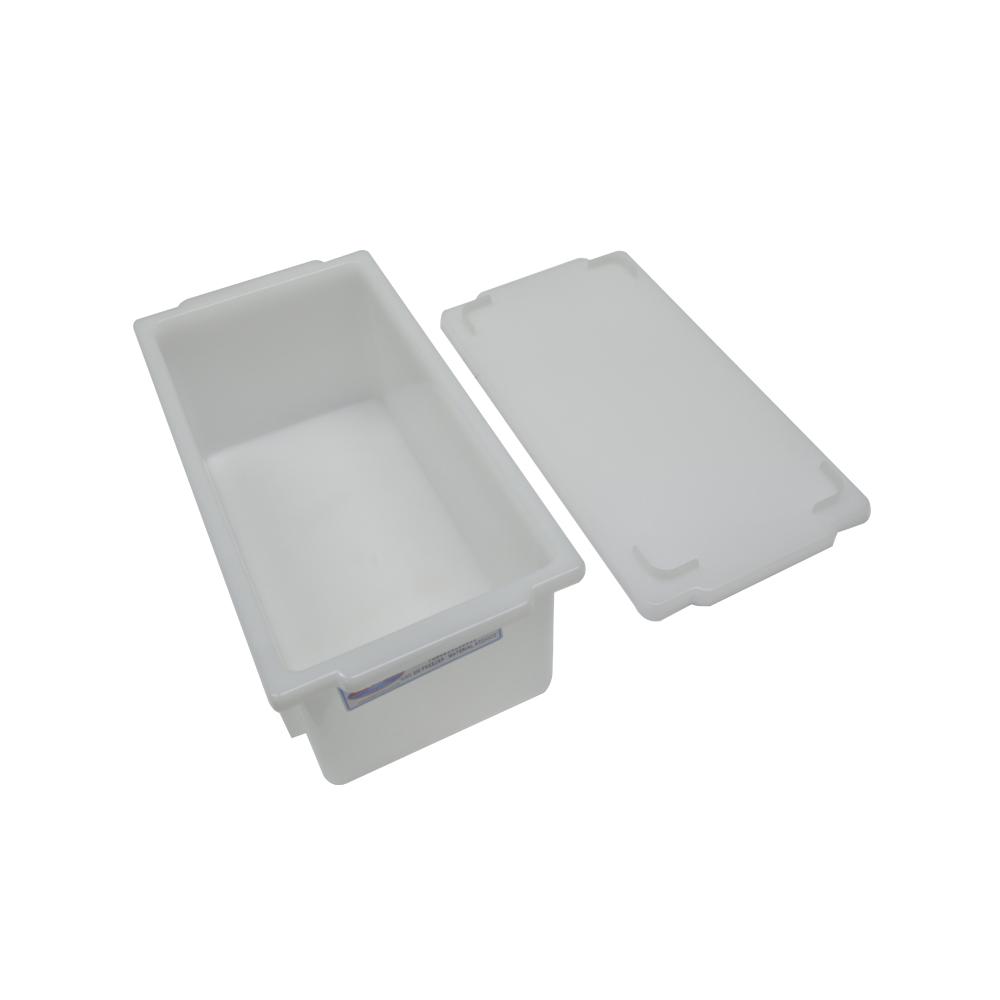 Caixa Plástica Branca Empilhável com Tampa 32X16X12 cm de 4,5 Litros S350