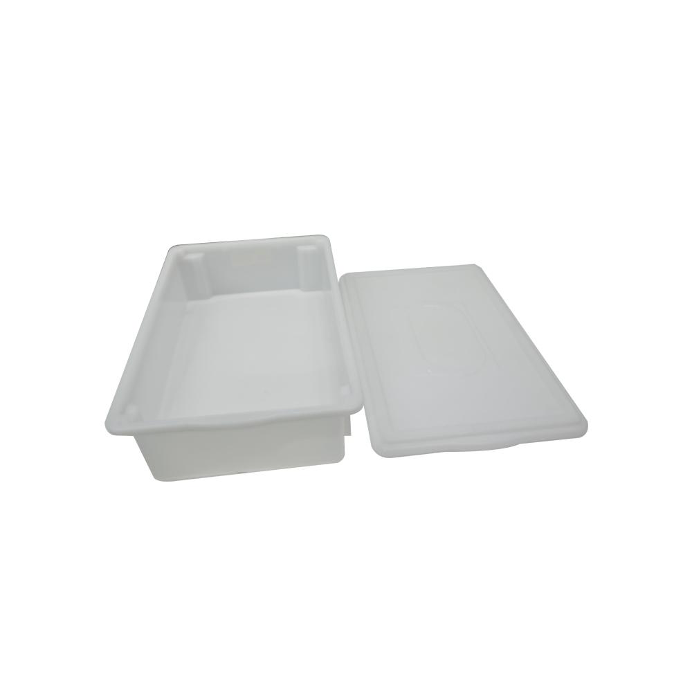 Caixa Plástica Branca Empilhável com Tampa 33X53X12 cm de 15 Litros S750