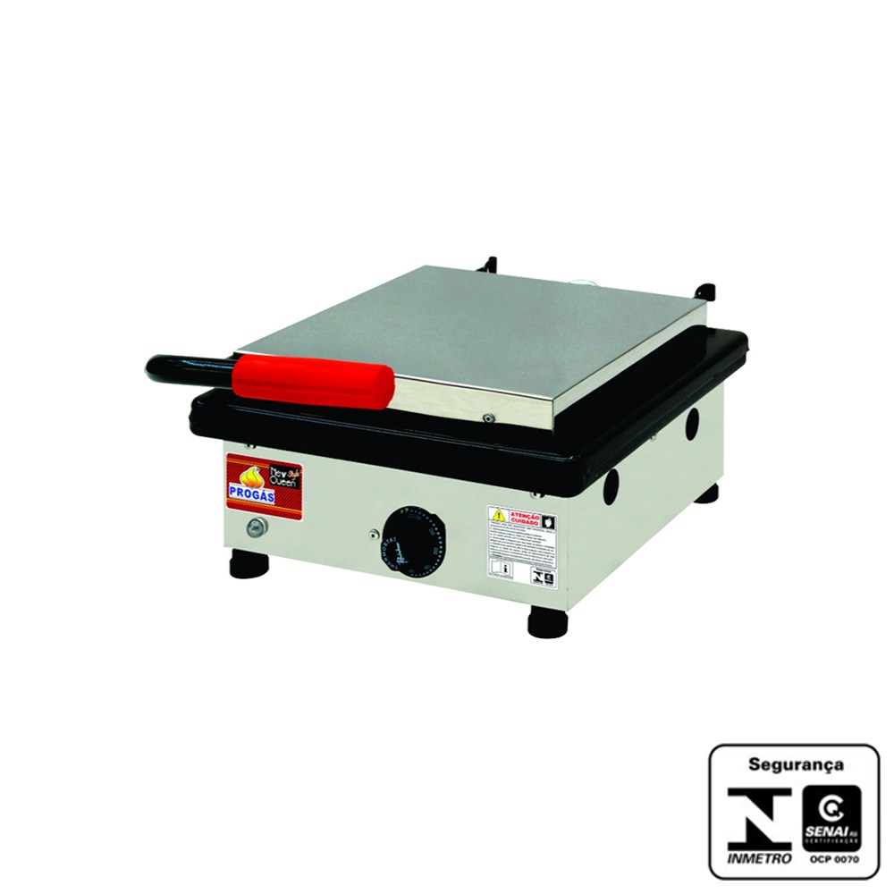 Chapa para Lanches Elétrica 32x43 com Prensa 220V Grill Progás