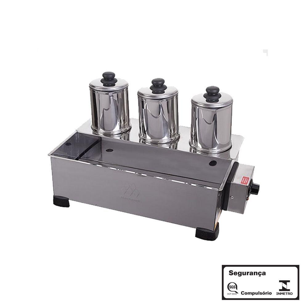 Esterilizador com 3 Bules Elétrico Aço Inox 220V Marchesoni