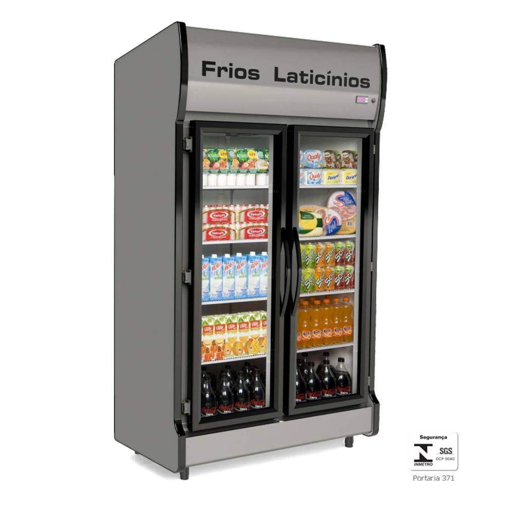 Expositor Vertical Refrigerado 2 Portas Auto Serviço AS2E - Conservex