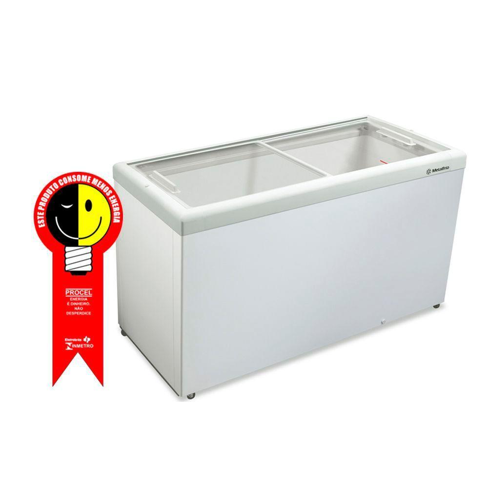 Freezer Horizontal Metalfrio 563 Litros Tampa de Vidro 220V - HF55LB