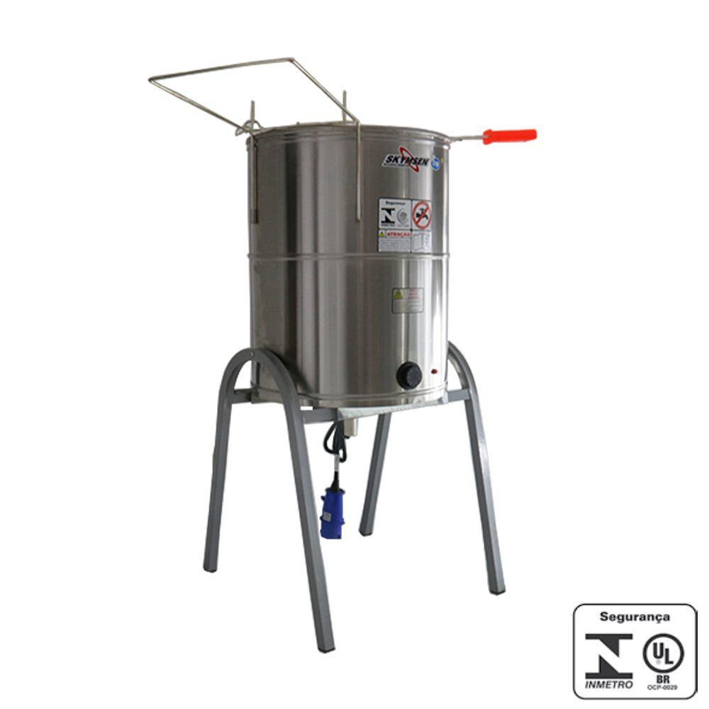 Fritadeira Elétrica Industrial Água e Óleo 5000W Skymsen 220V