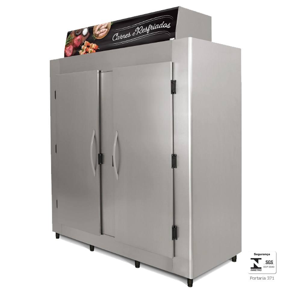 Geladeira Comercial Aço Inox para Açougue 2000 Litros - RA2000 Conservex