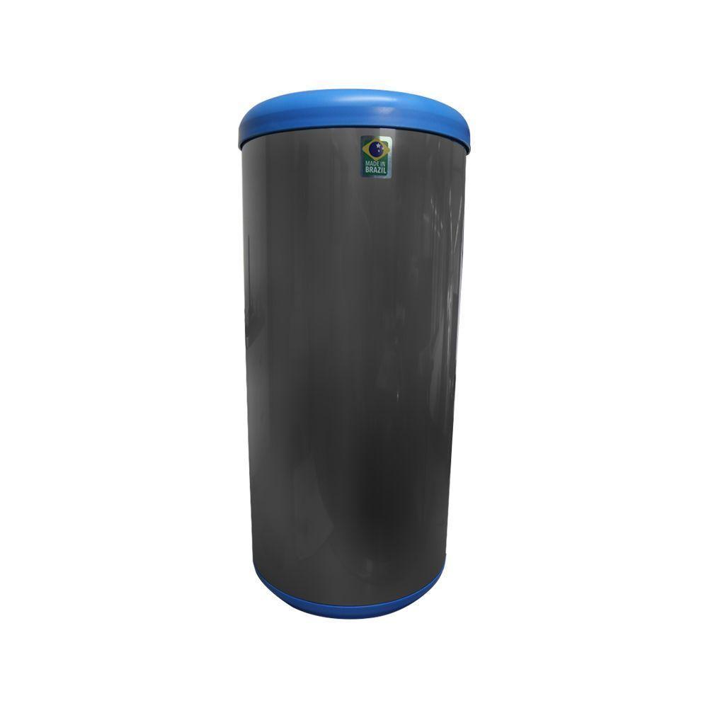 Lixeira Inox Seletiva 40 litros Azul Tramontina