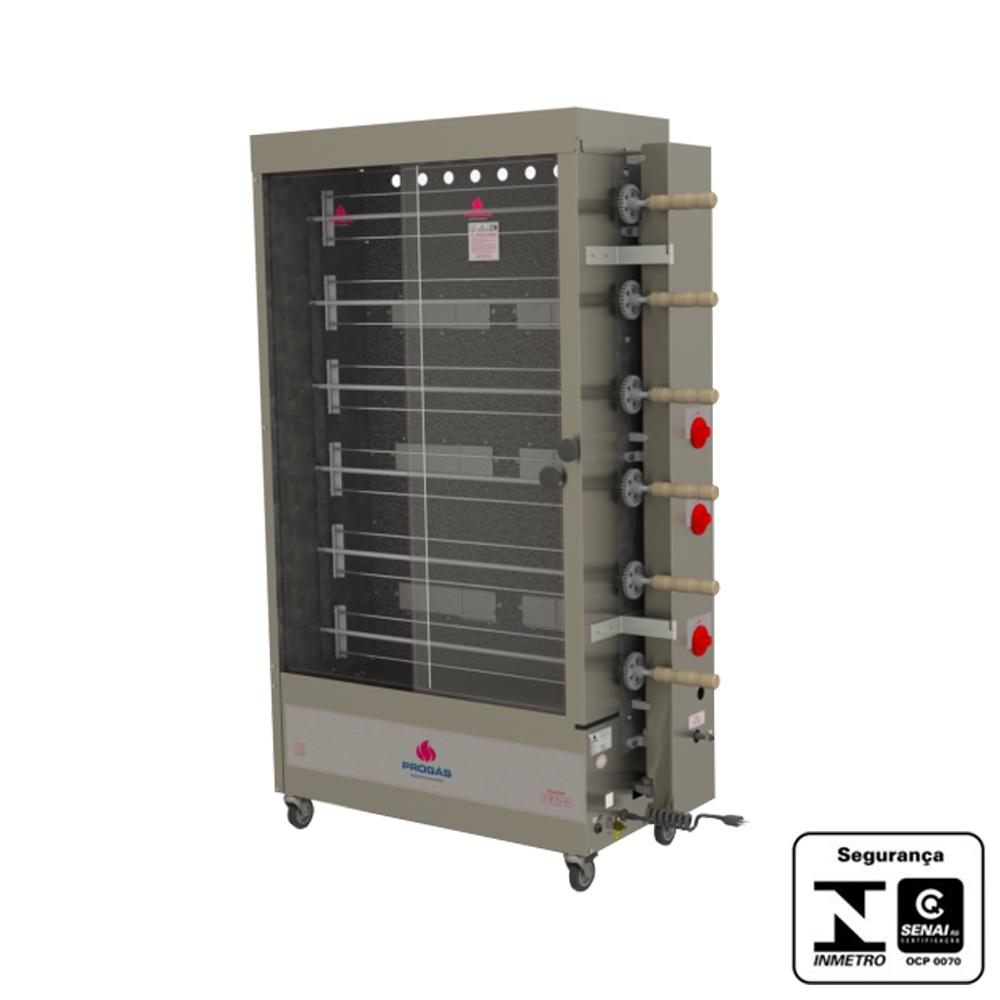 Máquina de Assar Frango à Gás 30 Unidades 220V Progás