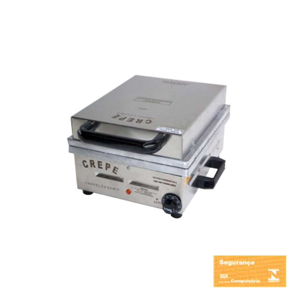 Máquina de Crepe Suíço Profissional Ademaq 12 Cavidades 110 V