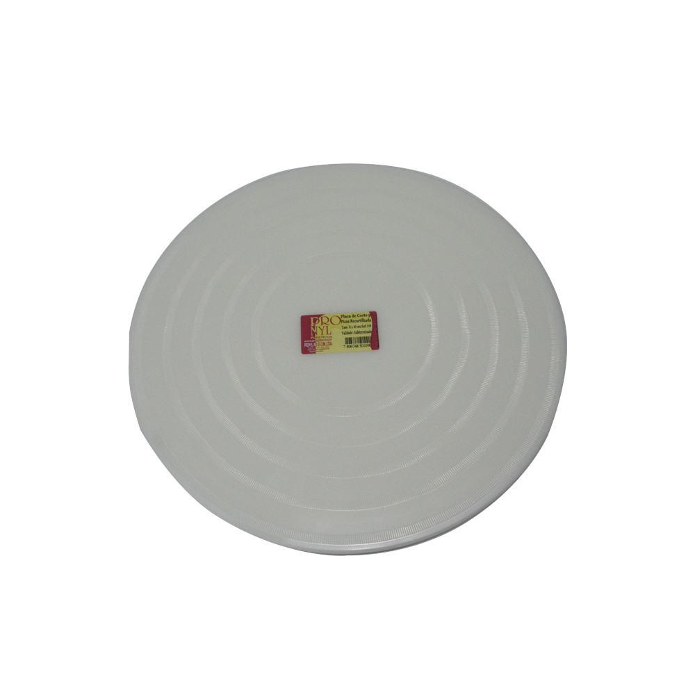 Placa de Pizza em Polietileno Branca Recartilhada de 35 cm Pronyl 139