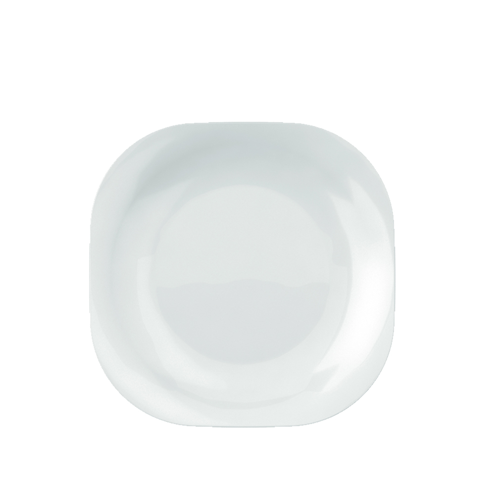 Prato Quadrado de Sobremesa Plaza Duralex 20 cm Branco 12 Pçs Nadir Figueiredo 5346