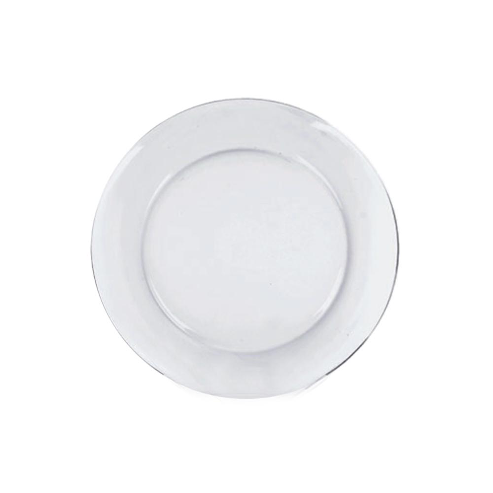 Prato Raso Gourmet Duralex Astral Transparente 26 cm  Cx 24 Un Nadir Figueiredo