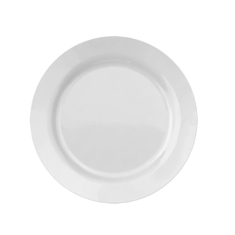 Prato Raso Menu 24 cm Branco 12 pçs Nadir Figueiredo 5743