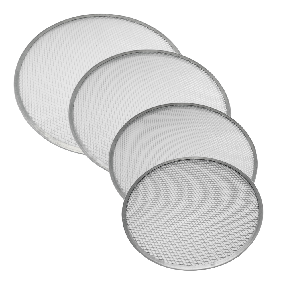 Tela Redonda para Pizza  30, 35, 40 e 45 cm Alumínio Kit 4 pçs Doupan