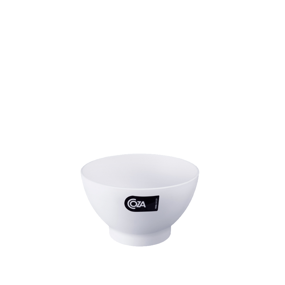 Tigela Cumbuca Bowl 300 ml Branca Polipropileno - Coza