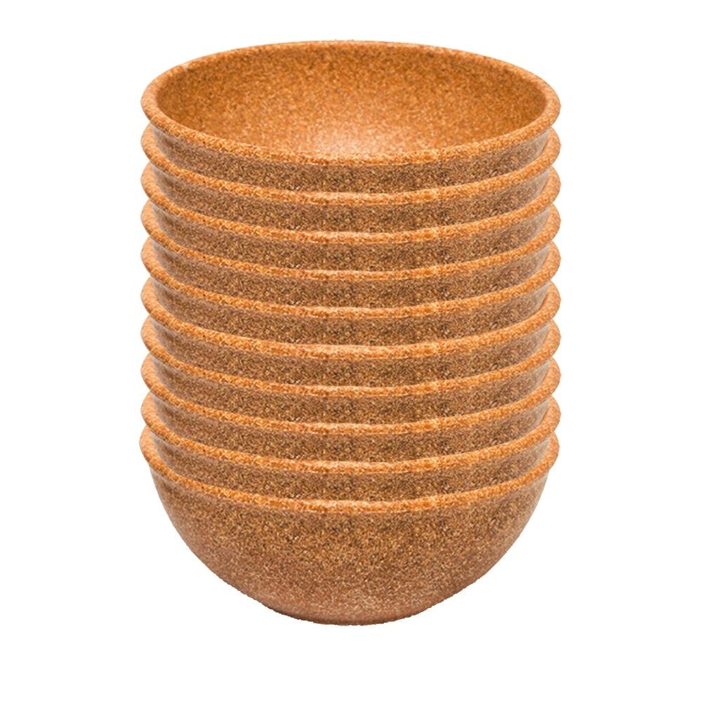 Tigela Cumbuca Bowl 500 ml Cerejeira WPC Produto Sustentável Kit 10 Unidades - Evo