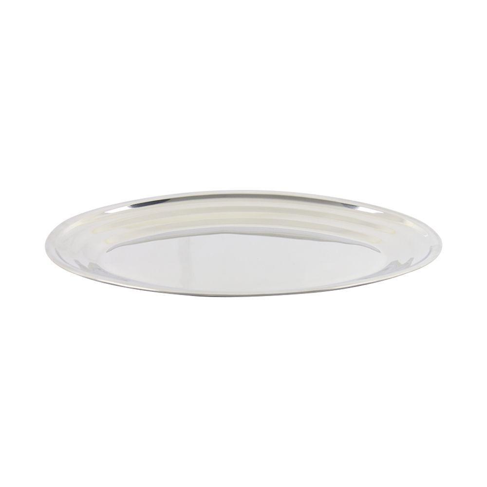 Travessa de Inox Oval Rasa 40 cm Tradicional Gourmetmix