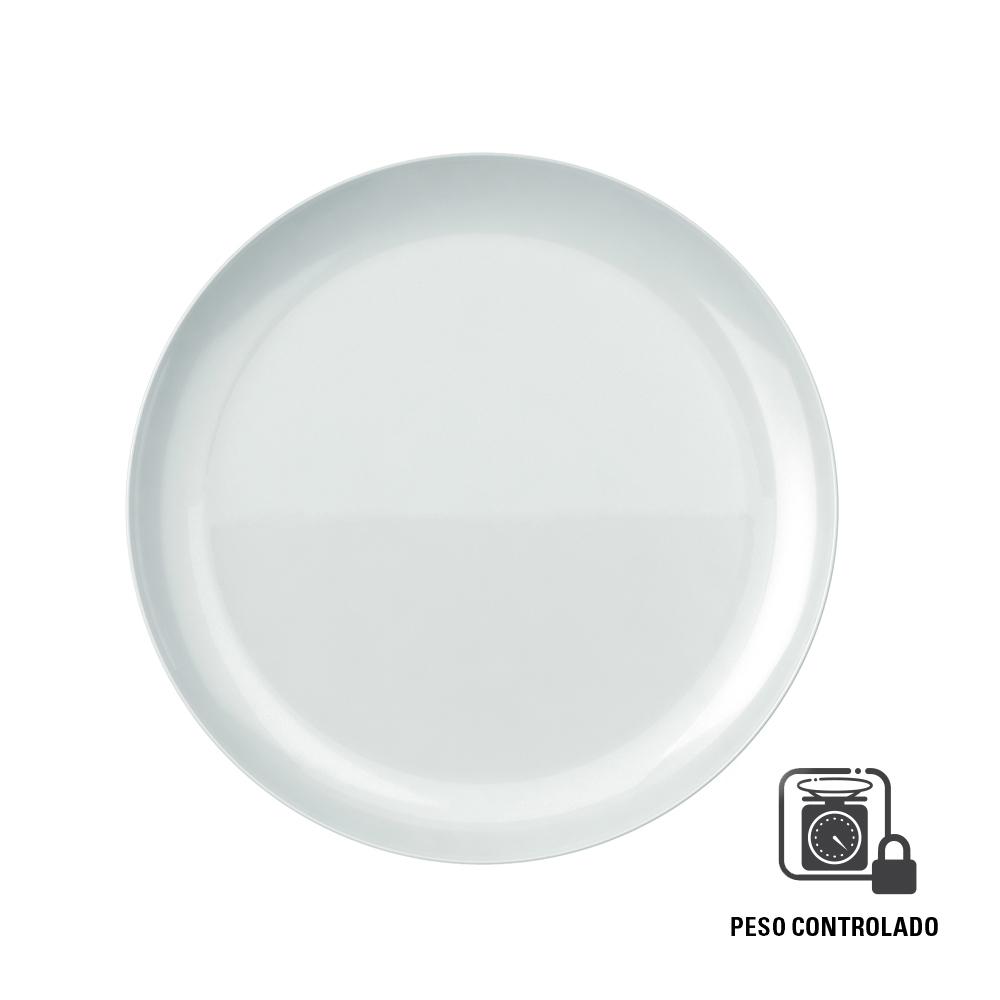 Prato Raso Duralex Blanc 27 cm Peso Controlado Branco 12 pçs Nadir Figueiredo 5545