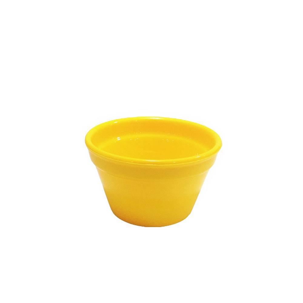 Ramequim Cheff 90 ml de Polipropileno Amarelo Vemplast