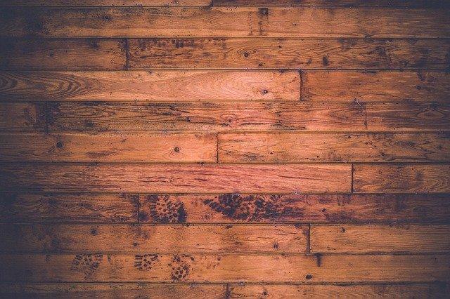 Wood flooring stained dark brown