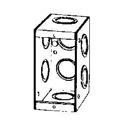 GEDM1-250 SINGLE GANG MASONRY BOX;Appleton® M1-250 M1 Series Non-Gangable Welded Masonry Box, Steel, 15.5 cu-in, 1 Gangs, 8 Outlets, 8 Knockouts;O-Z/Gedney M1-250 Non-Gangable Masonry Box, Steel, 15.5 cu-in, 1 Gang, 8 Outlets, 8 Knockouts