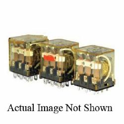 IDEC RH3B-ULCAC120V RH Series Compact Power Relay With Indicator LED, 10 A, 3PDT Contact, 120 VAC V Coil