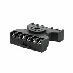 IDEC SR3P-06 SR Series Standard Timer Socket With Captive Wire Clamp, 300 VAC, 10 A, For Use With RR3PA, GT3 Timer, 11 Pin, 3 Poles