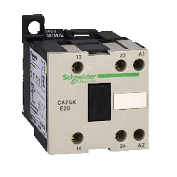 CA3SK20BD SCHNEIDER ELECTRIC IEC Control Relay,2NO,24VDC,10A