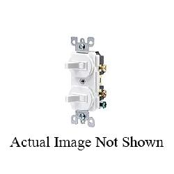 Leviton® 5224-2 Traditional Duplex Grounding Combination Switch With Receptacle, 20 A, 125 VAC, 1 hp, 1 Poles