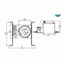 Lithonia Lighting® L7XLED T24 U Downlight Housing, LED Lamp, 120 VAC, 7 in Ceiling Opening, Aluminum Housing